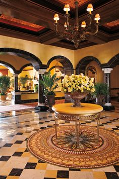 Front entrance to the lobby at The Grand Del Mar in San Diego   Warren Sheets Design, Inc.   Interior Design