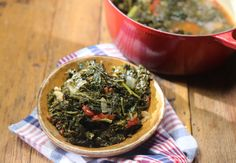 Braised Kale and Tomatoes recipe from Nancy Fuller via #FoodNetwork #kale #lecreuset #tomatoes #fresh #healthy #simple #easy #farmhouserules