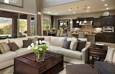 Like the warm color scheme in this great room