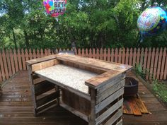 Pallet Bar with Granite countertop #palletbar #pallet projects