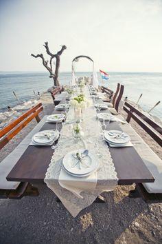 Wedding Table Decoration In Croatia - Weddings in Split - photo by foto Zumba