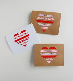 These DIY ribbon heart valentines from @northstory are so sweet. (There are several more cute card ideas in the post.)