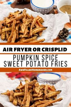 These Air Fryer or Crisp Lid Pumpkin Spice Sweet Potato Fries arent just a passing fad. Theyre a delicious recipe that takes sweet potato Thanksgiving dishes and makes them in fry form. Spicy sweet goodness ready in just a few minutes with minimal effort. Homemade Pumpkin Pie, Pumpkin Pie Spice, Great Recipes, Dinner Recipes, Yummy Recipes, Making Sweet Potato Fries, Food Truck Design, Cooking Recipes, Healthy Recipes