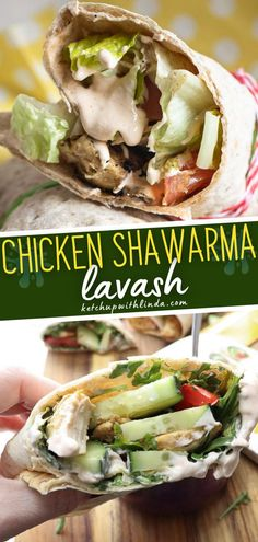 The perfect lunch or family weeknight meal for busy moms! Chicken shawarma lavash is a delicious dish that you can prep ahead of time. It is freezer-friendly and can be easily customized. Save this pin! Wrap Recipes, Lunch Recipes, Cooking Recipes, Easy Recipes, Easy Family Meals, Easy Meals, Family Recipes, Bite Size Appetizers, Shawarma