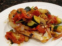 Chicken Bruschetta - wish I could freeze the bruschetta - this would be a great freezer meal