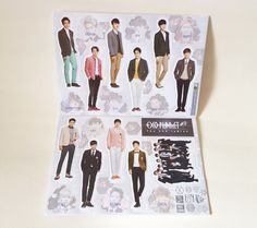EXO ALBUM PICTORIAL OFFICIAL GOODS EXODUS  Mini Standee Figure Doll - (New)
