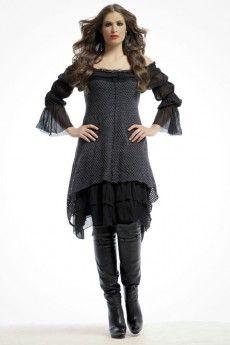 Mat Fashion  Robe Noire et Grise Juliana  plus size dress