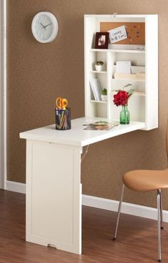 Very clever! This little desk folds down from a small unit attached to the wall. £172 from Tesco.com
