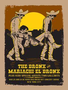 GigPosters.com - Bronx, The - Mariachi El Bronx - Two Gallants