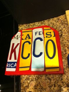 KCCO License Plate sign