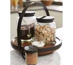 Cucina Cafe Station #potterybarn ..... I also like the idea of the tie on spoons!!!