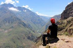 Foto no trekking no Cânion de Colca (Colca Canyon), perto de Arequipa, o segundo maior cânion do mundo. Post: Mochilão no Peru: Dia 15 | Diário de Bordo