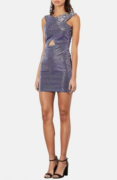 Topshop Cutout Metallic Leopard Print Dress available at #Nordstrom