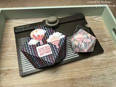 Stampin Up - Verpackung - Diamantbox - Diamond Box - Stempelset Abgehoben - Designerpapier Traum vom Fliegen - Melonensorbet - Pfirsisch Pur - Anleitung - Tutorial ♥ StempelnmitLiebe