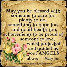 May you be blessed...