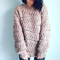 Ravelry: Sensum Sweater pattern by Linda Skuja Make your own cozy Crochet Sensum Sweater! Love the beautiful puff stitch braids. a href='/tag/crochetsweater' a href='/tag/ad' a href='/tag/pattern' So happy I found the perfect yarn for the Sensum Sweater t Pull Crochet, Gilet Crochet, Crochet Cardigan, Crochet Hooks, Knit Crochet, Crochet Sweaters, Patron Crochet, Crochet Style, Knitting Patterns