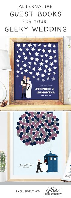 These #nerdy wedding guest books are perfect for the super fan couple who wants to geek out on their big day!