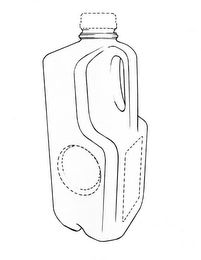 The mark consists of a three-dimensional configuration in the nature of product packaging of a one-half gallon plastic milk jug. The jug features a rectangular base, four vertical panels, a handle, and a neck. The rear panel and side panels have a top tapered portion forming a partial pyramid and the neck is positioned at the apex thereof. The front panel has a recessed top portion and the side panels have cutouts around the recessed top portion of the front panel. The connecting edges of…