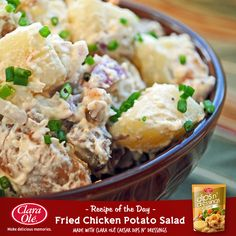 Need a salad idea for a gathering? Give your usual Potato Salad a creamy savoury twist with this tasty recipe!