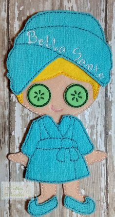 A Day At the Spa Felt Un Paper Doll Robe set by NettiesNeedlesToo, $6.00