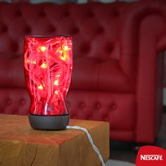 """""""Summerific Tip Reuse old NESCAFE Classic jars and make a night lamp out of it! Okay ba? Home Projects, Projects To Try, Coffee Jars, Exhibition Stand Design, Arts And Crafts, Diy Crafts, Nescafe, Night Lamps, Lava Lamp"""