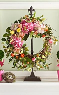 Insist that colorful blossoms be a part of your next occasion with our Spring Blossom Wreath.