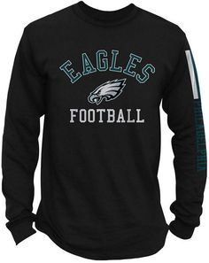 Authentic Nfl Apparel Men s Philadelphia Eagles Spread Formation Long  Sleeve T-Shirt Nfl Apparel 78095b825