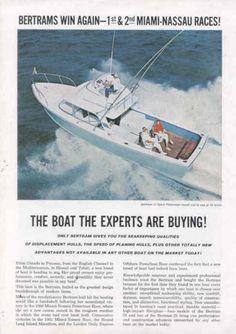 1962 Bertram 31 Advertisement #outperform #luxury #yacht