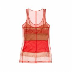 Reed Krakoff Layered Block Stripe Tank ($474) found on Polyvore featuring women's fashion, tops, shirts, tank tops, tanks, fresco, red lace top,…