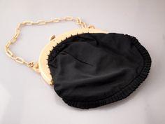Celluloid Handle Purse Bag c1910 Edwardian by BelmontandBellamy
