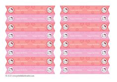 Free Hello Kitty Straw Flags Printable from PrintableTreats.com