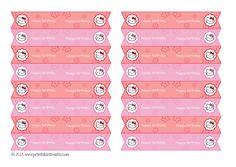 Free Hello Kitty Straw Flags Printable from PrintableTreats.com