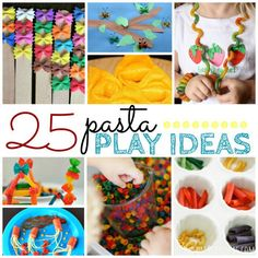 25 Pasta Play Ideas for Toddlers