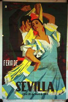 Cartel Feria de Primavera de Sevilla 1953