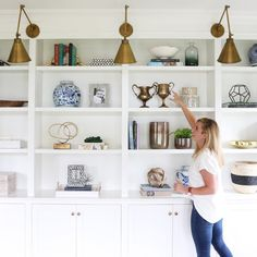 Wall-to-wall McGee and Co. accessories!!! And you know, just me casually pretending to style shelves after they're finished. ☺️ || mcgeeandco.com