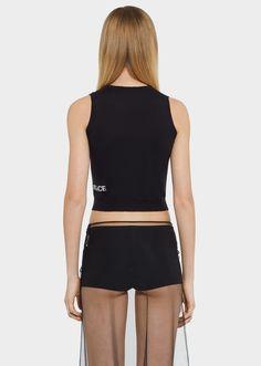 22a9fafc92fe3 Top senza maniche con logo Versace - nero Camicie   Top