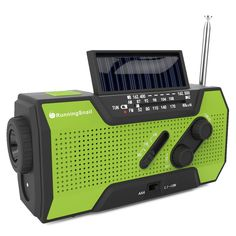 RunningSnail Solar Crank NOAA Weather Radio For Emergency, with 2000mAh Power Bank, Flashlight and  Reading Lamp