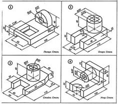 Isometric Drawing, Drawing Exercises, Drawing Practice, Autocad, Technical Drawings, Diagram, Prints, Industrial, Image