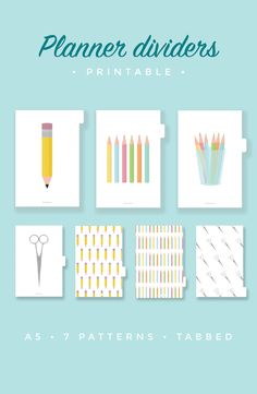 Stay organized with these super cute illustrated planner dividers.