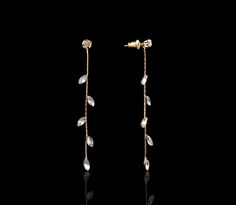 Intricate Ivy League Cascading Earrings - $30 http://www.muwae.com/shop/intricate-ivy-league-cascading-earrings