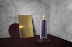 Begin your Christmas count down here, with this beautiful Christmas candle (kalenderlys) design by Normann Copenhagen.