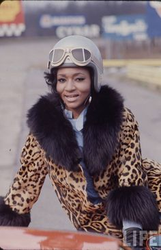 Grace Bumbry the ever fabulous soprano Grace probably gracing the hood of her precious Lamborgini!  A spectacular voice and an amazing woman.