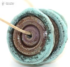 Glass lampwork beads Antiquities TURQUOISE and by radiantmind, $12.00
