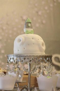 Cake at a Space Themed Baby Shower with Lots of Great Ideas via Kara's Party Ideas | KarasPartyIdeas.com #Space #BabyShower #PartyIdeas #PartySupplies #cake