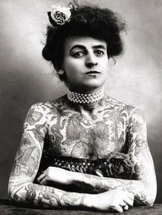 Maud Wagner, the first known female tattooist in the US, 1911