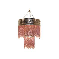 Modern Beaded Brass Chandelier (3,100 CNY) found on Polyvore featuring home, lighting, ceiling lights, fillers, furniture, extra, solid brass chandelier, brass ceiling lights, modern chandelier lighting and beaded lamp