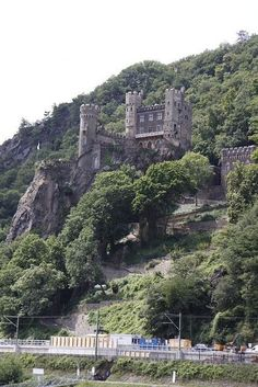 The Rhine Castle along the River Rhine in Germany.
