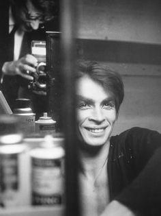 Rudolf Nureyev being photographed by Richard Avedon