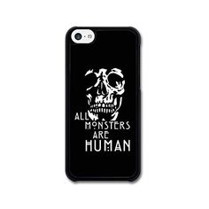 AMAF Accessories American Horror Story Asylum All Monsters Are Human... (£9.68) ❤ liked on Polyvore featuring accessories, tech accessories, phone cases, phone, electronics and black