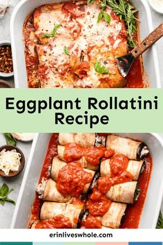 Go all out on tonight's dinner with this Eggplant Rollatini recipe. It's made with a heaping portion of veggies, tons of spices, and three different cheeses. Eat up! Food Dishes, Main Dishes, Food Food, Eggplant Rollatini Recipe, Italian Diet, Baked Eggplant, Quick Meals, Casserole Dishes, Healthy Dinner Recipes